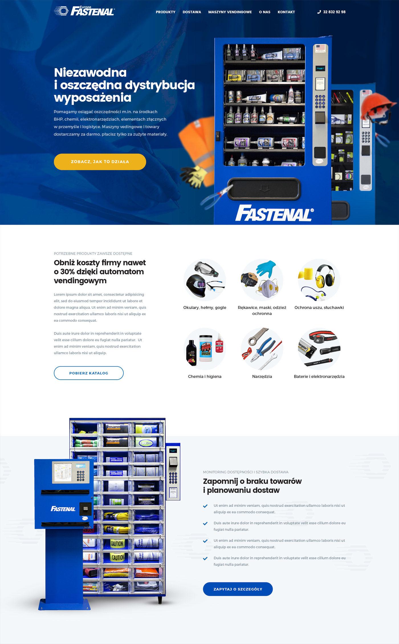 Projekt strony Fastenal.pl