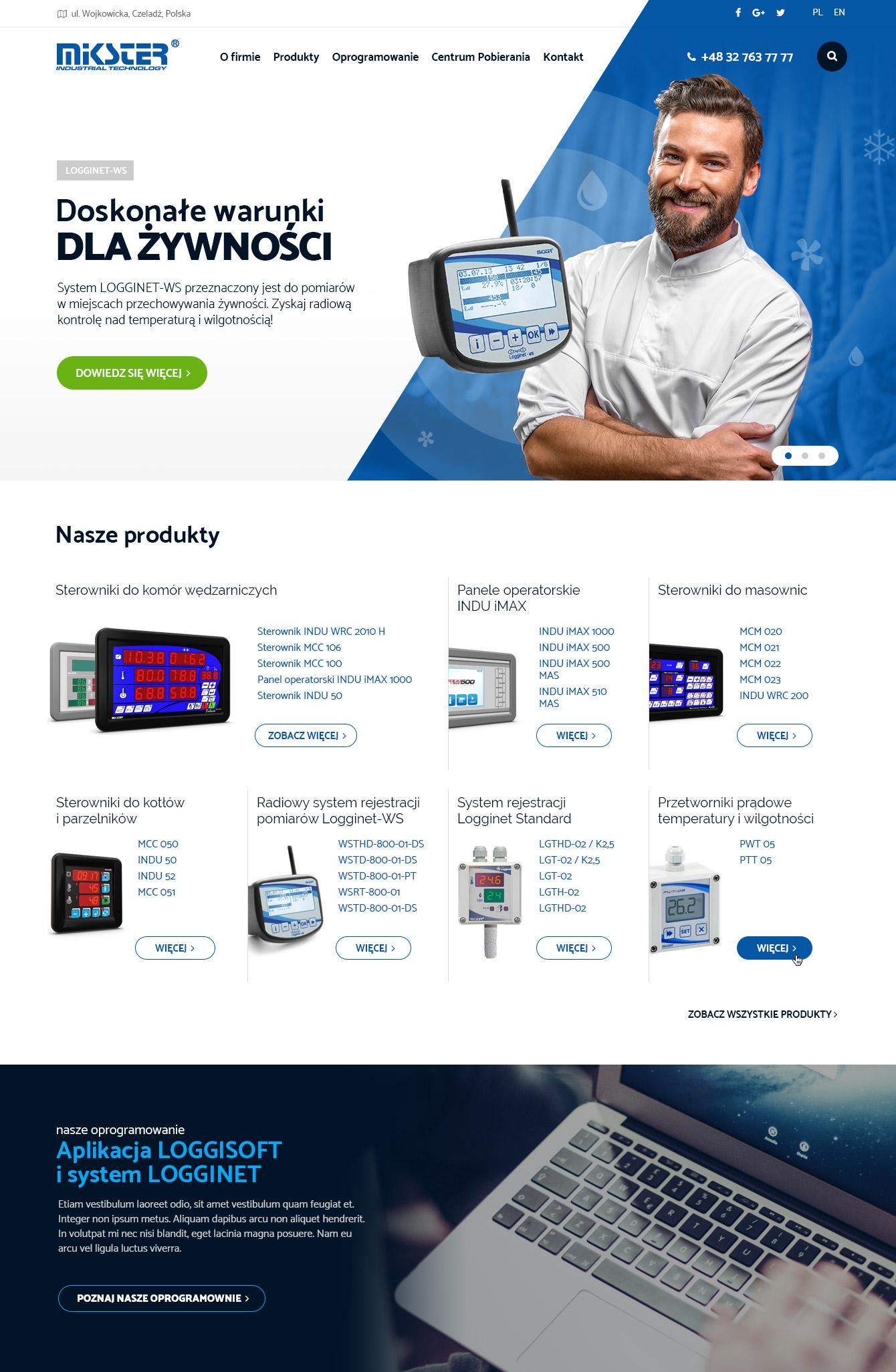 Projekt strony mikster.eu